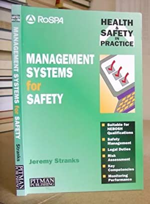 Management Systems For Safety: Stranks, Jeremy