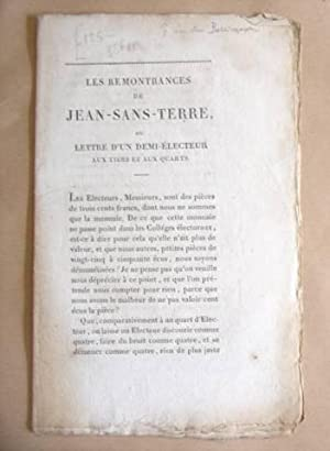 Les Remontrances De Jean Sans Terre, Ou: Sans Terre, Jean