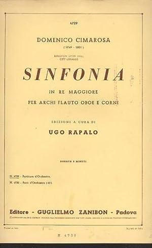 Sinfonia in Re Maggiore Per Archi Flauto: Cimarosa, Domenico