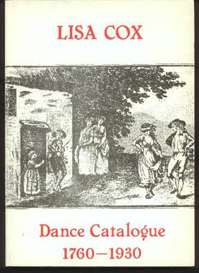 Dance Catalogue 1760-1930. (Catalolgue B1)
