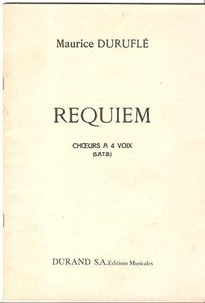 Requiem - Choers a 4 Voix (SATB): Durufle, Maurice