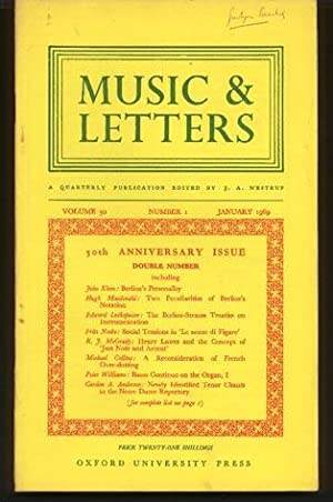 Music & Letters. a Quarterly Publication Volume 50