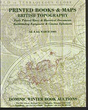 Printed Books and Maps, British Topography. Early Printed Music & Historical Documents, Bookbindi...