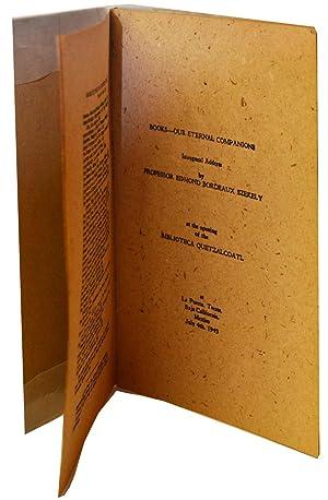 books Our Eternal Companions: Edmond Bordeaux Szekely