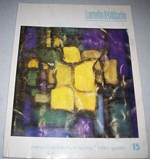 Latvian Art #15 (1989): Latvju Maksla Periodisks: N/A