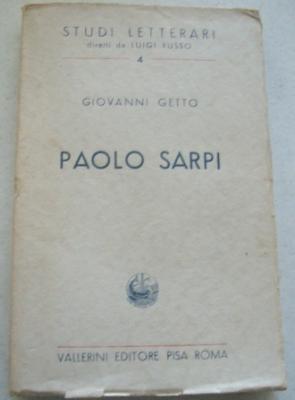 Paolo Sarpi (Studi Letterari Diretti da Luigi: Getto, Giovanni