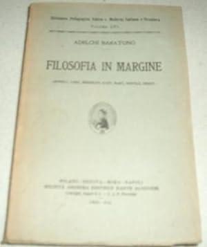 Filosofia in Margine (Spinoza, Loke, Berkeley, Kant,: Baratono, Adelchi