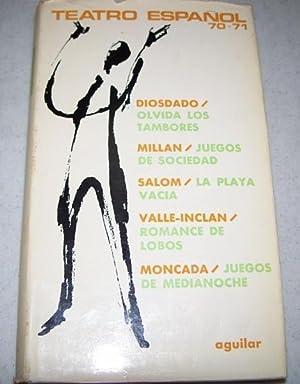 Teatro Espanol 1970-1971: Olvida Los Tambores; Juegos: Diosdado, Ana; Millan,