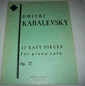 17 Easy Pieces for Piano Solo Op.: Kabalevsky, Dmitri