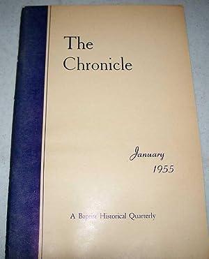 The Chronicle Volume XVIII, No. 1, January: MacQueen, David A.;