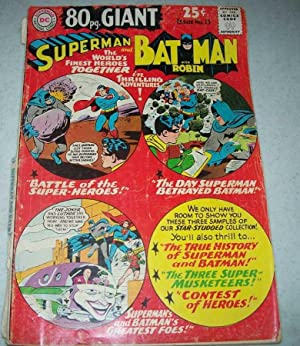 Superman and Batman with Robin Issue No. 15 (Superman DC Comics 80pg. giant)