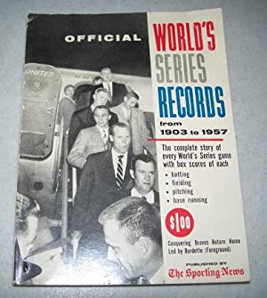 1958 World's Series Record Book 1903-1957