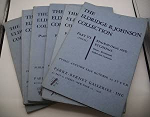 The Eldridge R. Johnson Collection 1946 Public Auction Catalog in 6 Parts, I-Manuscripts, Books a...