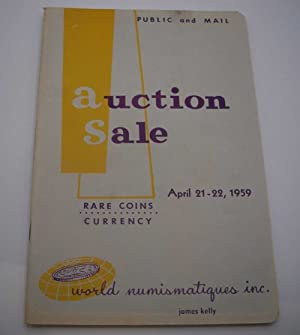Auction Sale Rare Coins and Currency, April 21-22, 1959