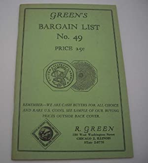 Green's Illustrated Bargain List No. 49: Rare Coins Catalog