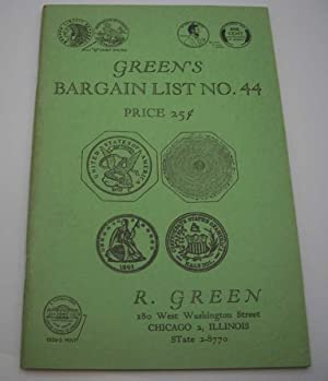 Green's Illustrated Bargain List No. 44: Rare Coins Catalog