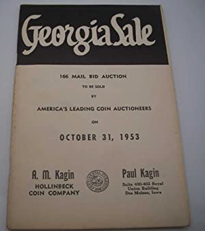 Georgia Sale 166 Mail Bid Auction to be sold by America's Leading Coin Auctioneers on October 31,...
