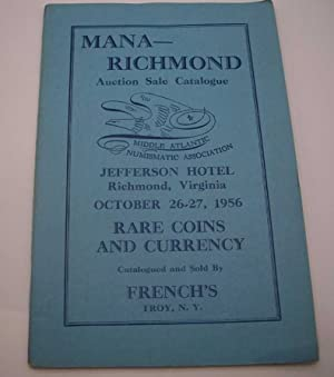Mana-Richmond Auction Sale Catalogue, October 26-27, 1956