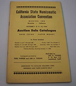 California State Numismatic Association Convention Auction Sale Catalogue, October 1954