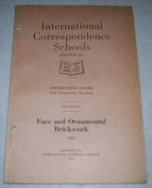 Face and Ornamental Brickwork (International Correspondence Schools: N/A