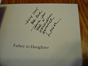 Father to Daughter; The Family Letters of: Frothingham Bertha Perkins