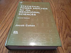 Statistical Power Analysis for the Behavioral Sciences: Jacob Cohen