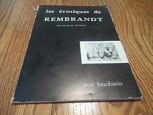 les erotiques de Rembrandt; Gravures et dessins: Georges. Ostermann