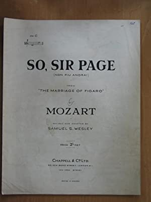 So, Sir Page (Non Piu Andrai) from the Marriage of Figaro