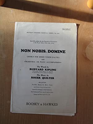Non Nobis, Domine - Choris for Mixed: Rudyard Kipling and