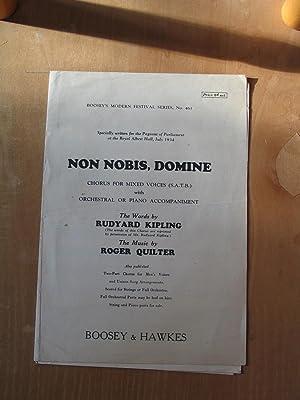 Non Nobis, Domine - Choris for Mixed: Rudyard Kipling and