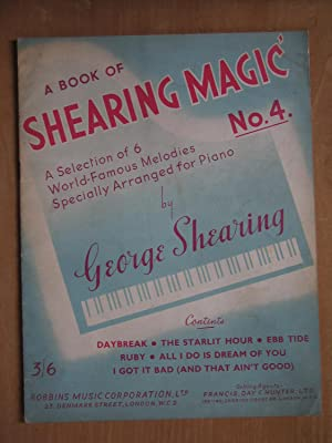 A Book of Shearing Magic No.4, a Selection of 6 World Famous Melodies Specially Arranged For Piano