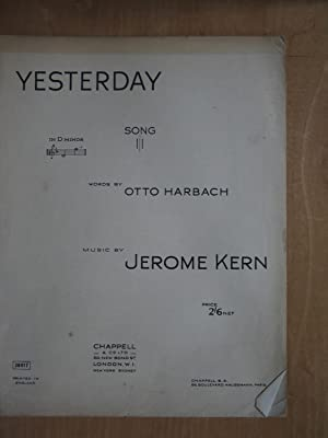 Yesterday: Otto Harbach and