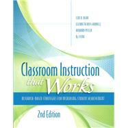 Classroom Instruction that Works Research-Based Strategies for: Dean, Ceri B.;