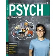 PSYCH 4 (with CourseMate Printed Access Card): Rathus, Spencer A.