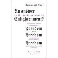 An Answer to the Question: 'What is: Kant, Immanuel; Nisbet,