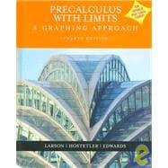 Precalculus With Limits: A Graphing Approach: Larson, Ron; Hostetler,