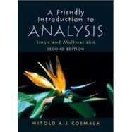 A Friendly Introduction to Analysis: Kosmala, Witold A.J.