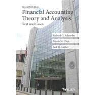 Financial Accounting Theory and Analysis: Text and: Schroeder, Richard G.;