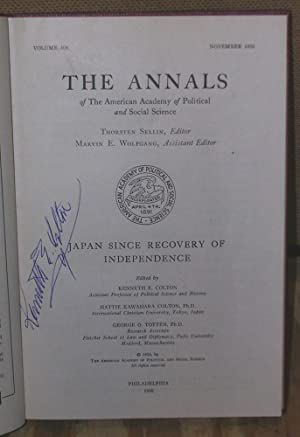 The Annals: Japan Since Recovery of Independence: Colton, Kenneth E. Editor