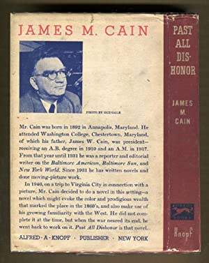 Past All Dishonor: Cain, James M.
