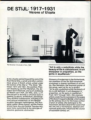 De Stijl: 1917-1931, Visions of Utopia: Friedman, Mildred (Editor)