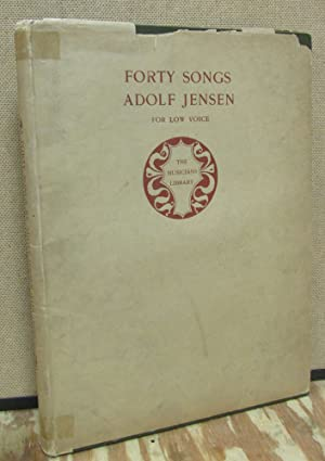 Forty Songs By Adolf Jensen for Low Voice