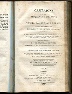 Campaigns of the Armies of France In Prussia, Saxony and Poland.Vols. 1 & 2: Peuchet, Jacques &...