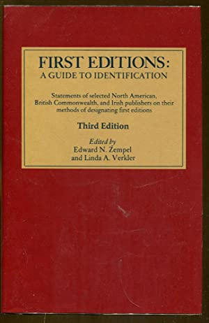 First Editions: A Guide to Identification: Zempel, Edward N.
