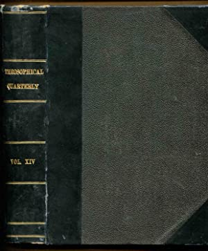 Theosophical Quarterly, Volume 14: July, October, 1916-January, April, 1917 (4 issues)