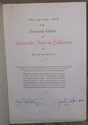 Seventy-Five Years in California: Davis, William Heath