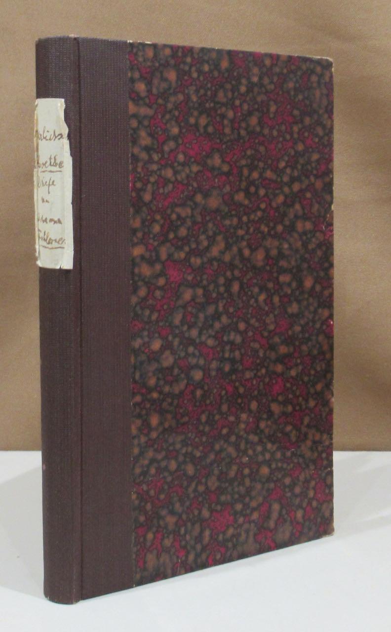 Briefe Von Goethe : Briefe an goethe von johann wolfgang zvab