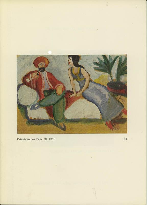 1887 - 1914. Ölbilder, Aquarelle, Pastelle, Zeichnungen.: Macke, August.