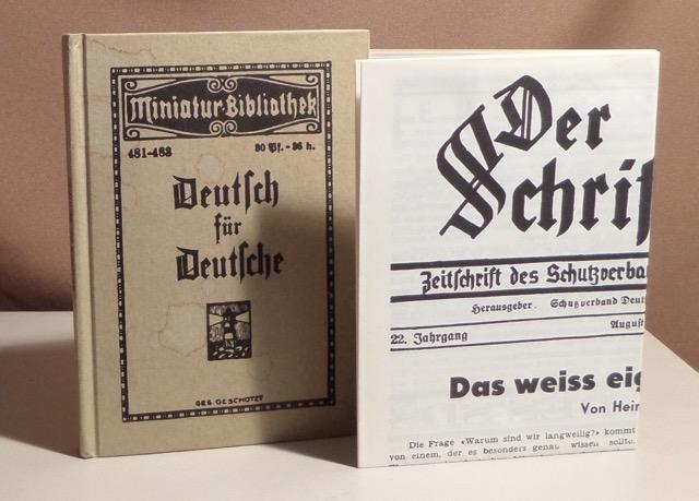 """Tarnschrift """"Deutsch für Deutsche"""". Herausgegeben im Juni"""
