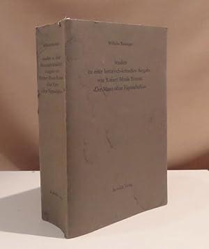 Studien zu einer historisch-kritischen Ausgabe von Robert: Musil, Robert -